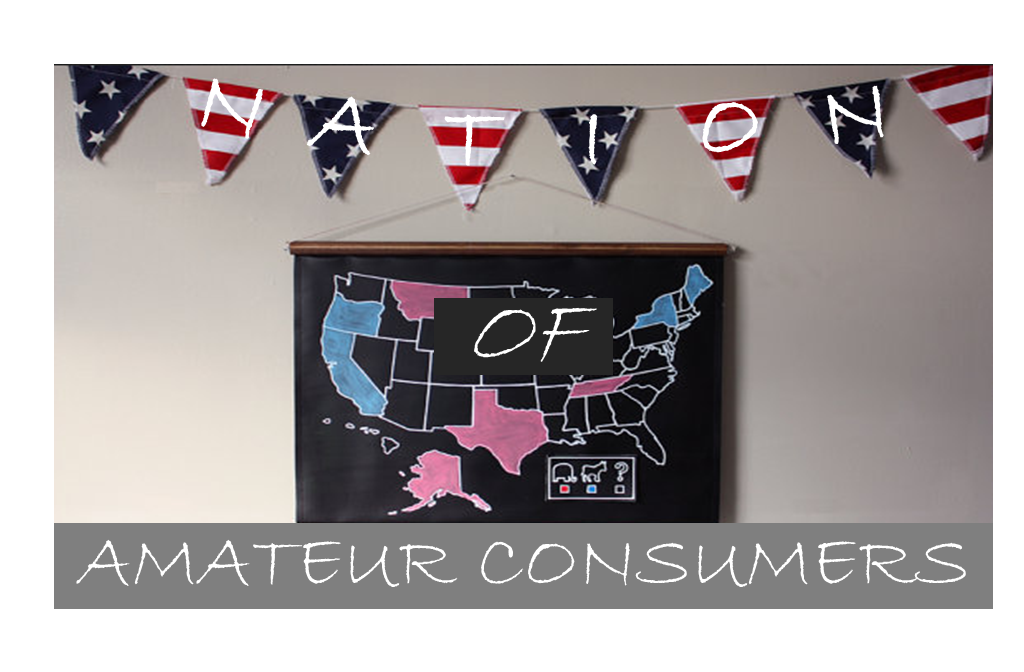 Nation of Amateur Consumer A Nation of Amateur Consumers