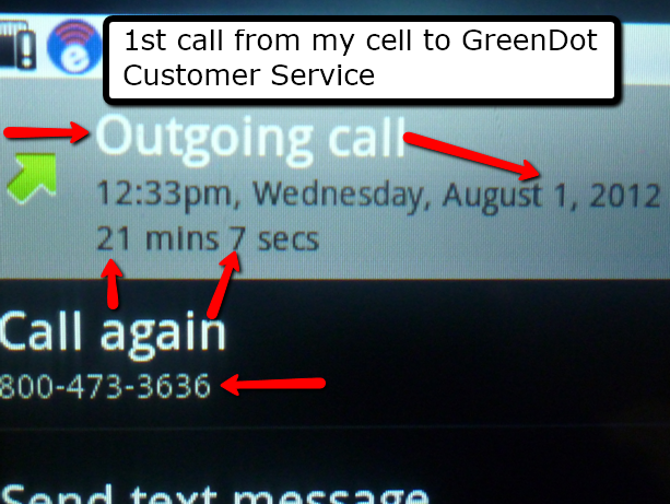 First Call to GreenDot Customer Service The Real Truth About Pre Paid Credit Cards From a 'Former' User