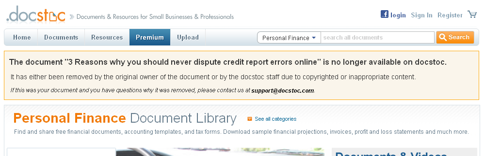docstock website 3 Reasons Why You Should Never Dispute Credit Errors Online