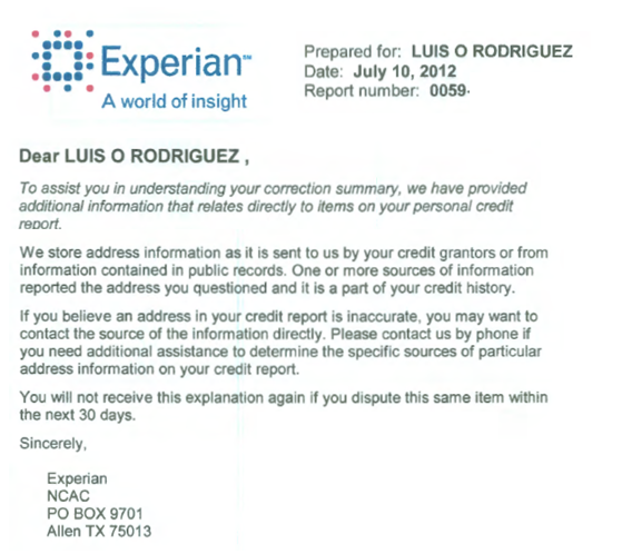 "Experian Report2 How to Get the ""Big Boys"" Help in Deleting Credit Errors"