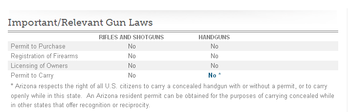 Arizona Gun Laws Don't Call it Gun Control: Just Control The Damn Guns!